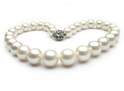 pearls jewelry white south sea pearl necklace 13 15mm aa pearl