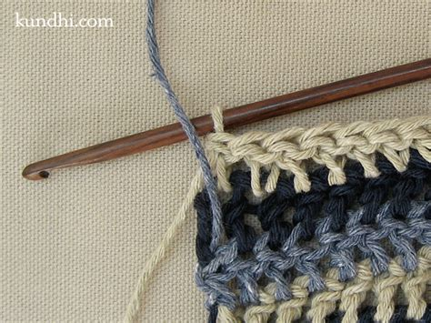 knitting stripes in the carrying yarn how to crochet or knit single row stripes