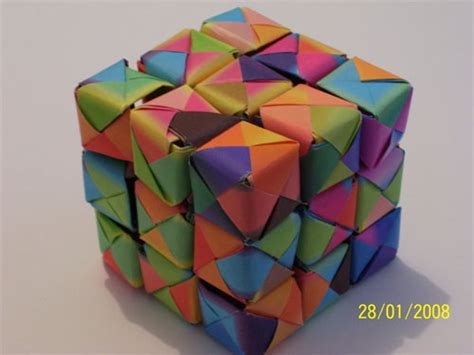 3d cube origami 23 and creative origami artworks smashingapps