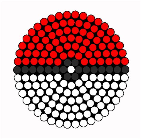 pokeball perler bead pattern pokeball kandi drink coaster perler bead pattern bead