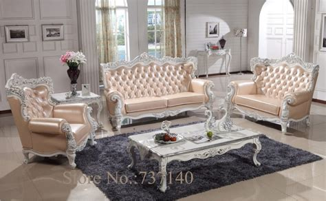 wood living room set sofa set living room furniture wood and genuine leather