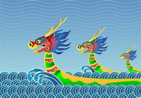 Dragon Boat Festival Vector by Dragon Boat Festival Background Download Free Vector Art