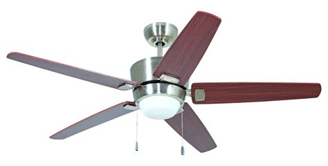 craftmade polished nickel ceiling fan with blades light