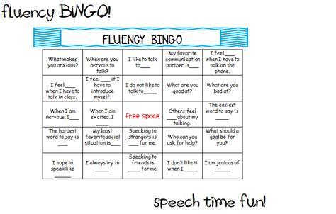 Fluency Pack!!  Speech Time Fun Speech And Language Activities