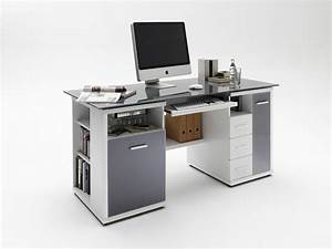 Schreibtisch Grau Hochglanz : schreibtisch home office glas grau wei hochglanz ebay ~ Markanthonyermac.com Haus und Dekorationen