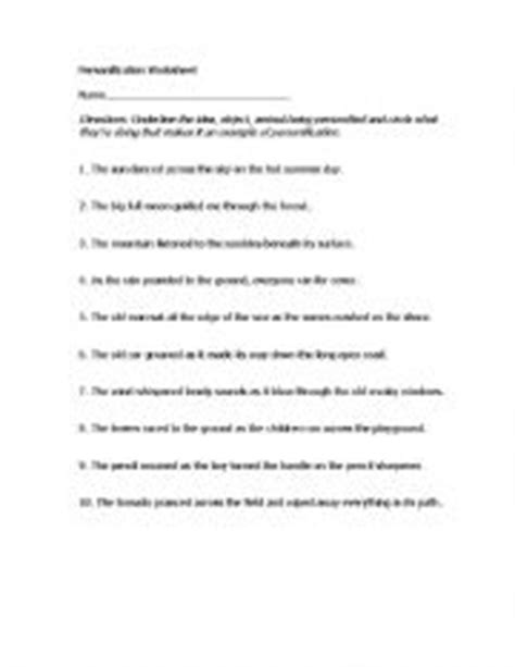 15 Best Images Of Personification Worksheets For Students  Personification Printable Worksheets