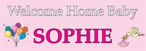 Welcome Home Banner For A Baby Girl  Personalised Banners