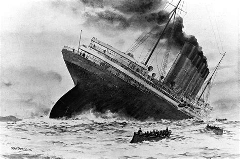 image gallery lusitania sinking