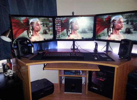 20 Cool Computer Arrangements For Gamers  Home Design And. Application For Front Desk Officer. Ikea Bistro Table. Brown Desk Chair. Extra Long Chest Of Drawers. Add Pull Out Drawers Existing Cabinets. Small Homework Desk. Corner Desk With Storage. Discount Table Lamps