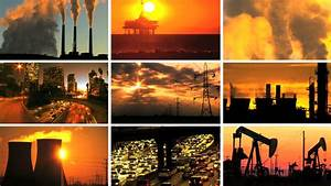 Montage Of Contrasting Effect Of Clean Power Production ...