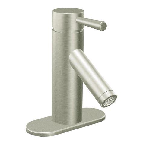 shop moen level brushed nickel 1 handle 4 in centerset