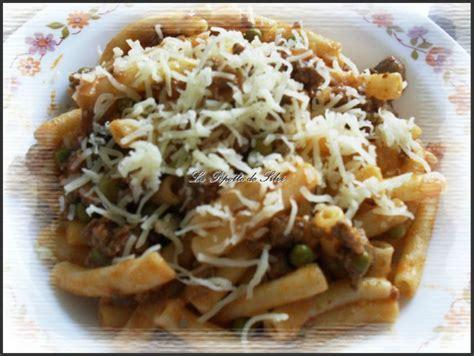 macaronis aux petits pois chignons et viande hach 233 e la popotte de silvi