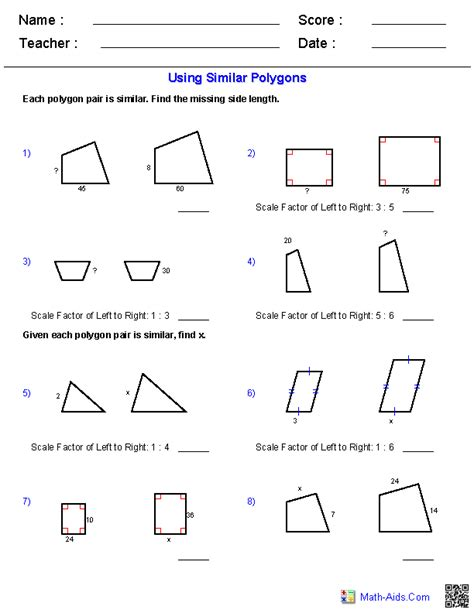 Finding Scale Factor Worksheet Worksheets For All  Download And Share Worksheets  Free On