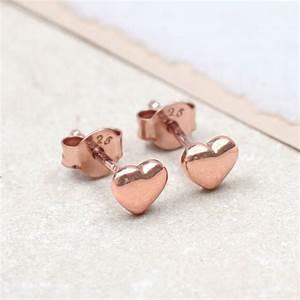 Rose Gold Wandfarbe : rose gold heart stud earrings by hurleyburley ~ Markanthonyermac.com Haus und Dekorationen