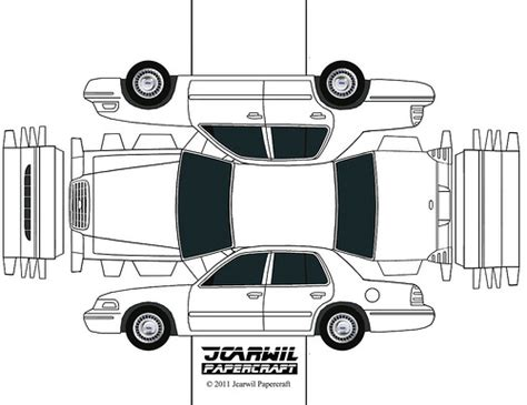 Jcarwil Papercraft 2000 Ford Crown Victoria