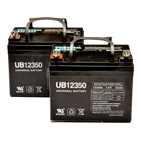 jazzy battery pack set of 2 u1 35ah power chair batteries