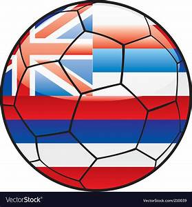 Hawaii flag on soccer ball Royalty Free Vector Image
