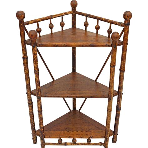 colonial style stick and corner etagere stand shelves from aa on ruby