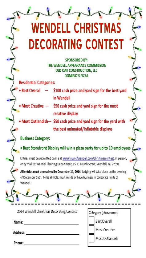decorating contest flyer ideas