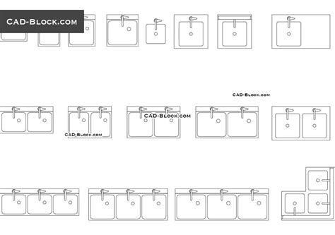 Commercial Sink Autocad Blocks Free Download 48 Inch Bathroom Vanity Light Wholesale Fixtures Modern Sink And Plants Low Traditional 6 Fixture Led Lights