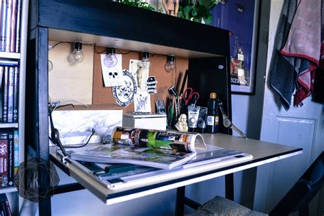 ikea ps 2014 desk makeover orange to minimalist ikea bureau ikea hackers ikea hackers