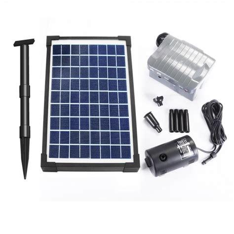 pompe solaire jet d eau de bassin 20w vld batterie programmable objetsolaire