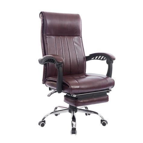 homcom high back executive swivel office chair with