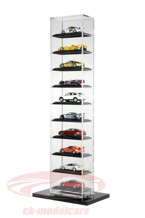 ck modelcars wap02077818 porsche acryl showcase stand version for up to 10 cars in 1 43