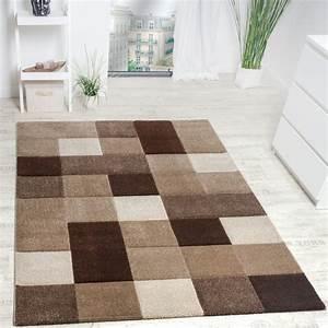 Türkische Teppiche Modern : designer teppich modern handgearbeiteter konturenschnitt kariert braun beige wohn und ~ Markanthonyermac.com Haus und Dekorationen