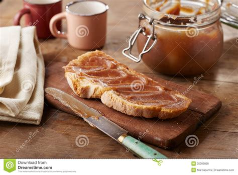 toast with creme de marrons stock photo image 35005858