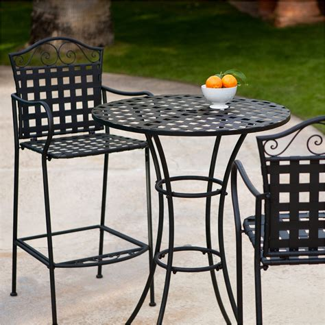 bar height patio table and chairs awesome outdoor bistro