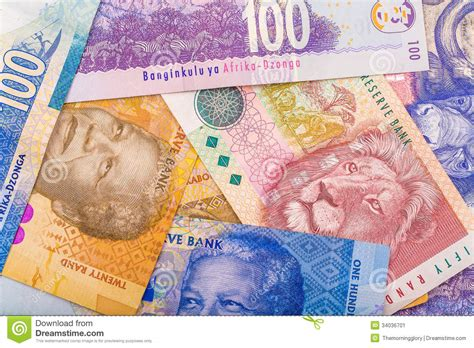 up of south currency the rand stock image image 34036701