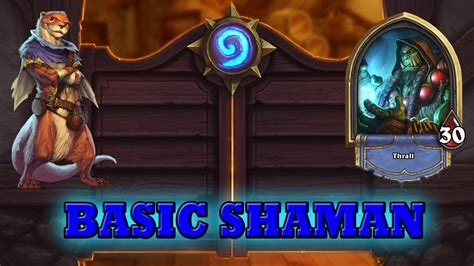 hearthstone deck guide starter shaman basic cards only