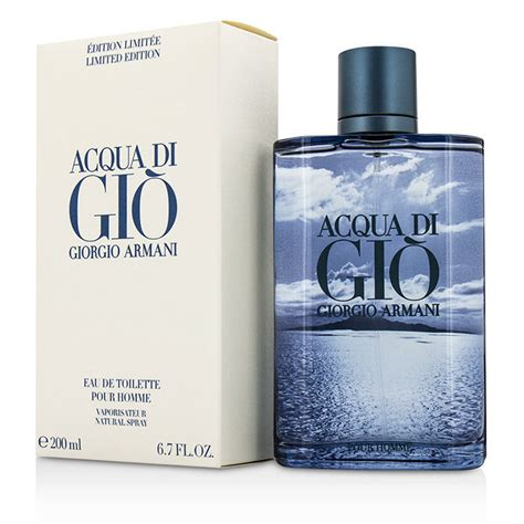 giorgio armani acqua di gio eau de toilette spray blue limited edition 200ml 6 7oz cosmetics