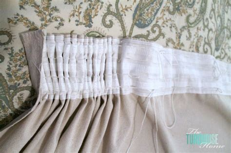 Diy Easy Pleated Curtains {from Sloppy To Structured Harry Corry Black Curtains Silver Grey 90 X 108 Twin Peaks Red New Sew Blackout Gray And Yellow Shower Curtain Rod Not Staying Up Palm Leaves How To Use Clip Rings Hang