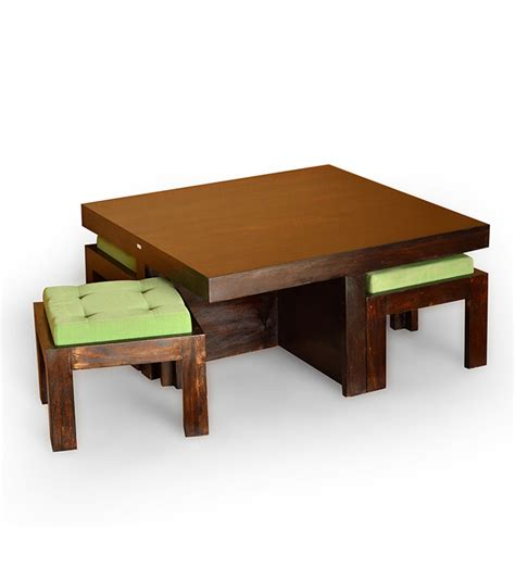 basil trendy coffee table with 4 stools 12999 from pepperfry