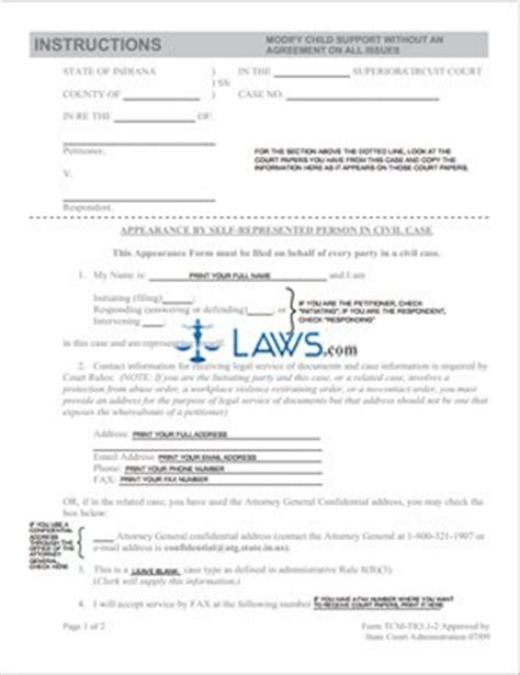 Form Modify Child Support Without An Agreement On All