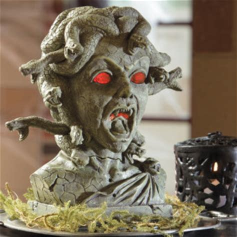 medusa animated bust decorations and decor eclectic