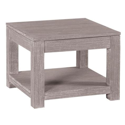 table basse bois gris taupe wraste