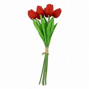 Bundle of 6 Real Touch Tulips - Single Stem Bunch Bouquet ...