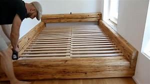 Bett Selber Bauen Holz : balkenbett bett selber bauen made by myself dein diy heimwerker blog ~ Markanthonyermac.com Haus und Dekorationen