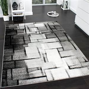 Türkische Teppiche Modern : designer teppich modern trendiger kurzflor teppich karo muster farbverlauf grau wohn und ~ Markanthonyermac.com Haus und Dekorationen