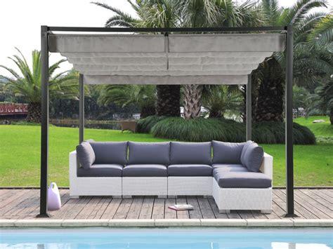 pergola tonnelle de jardin jericocao en acier avec toit mobile 300 300cm jardin d 233 tente