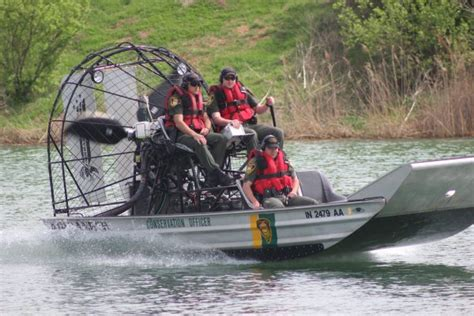 Police Airboat by Indiana Dnr District 7 Conservation Officers Now Have