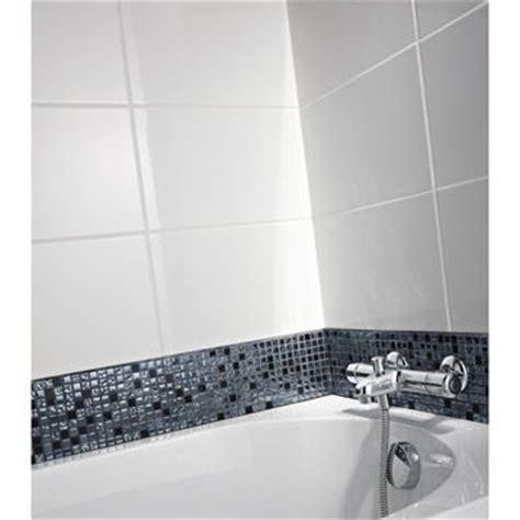 carrelage mural en fa 239 ence blanc 40x25 cm leroy merlin salle de bain ps