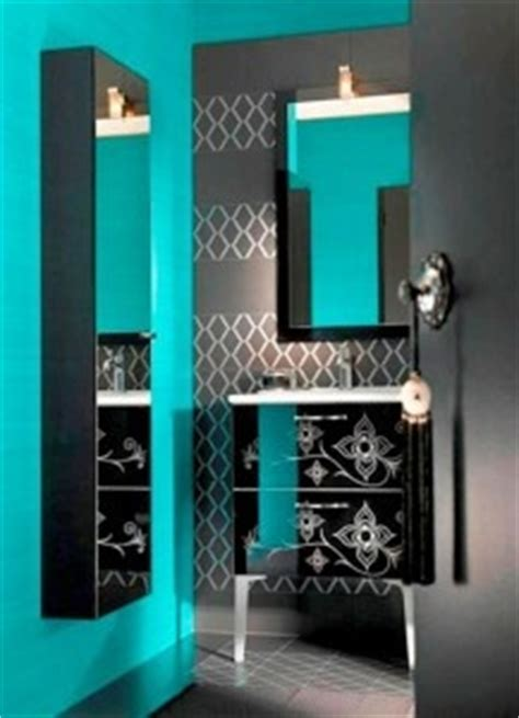 black and turquoise bathroom idea turquoise