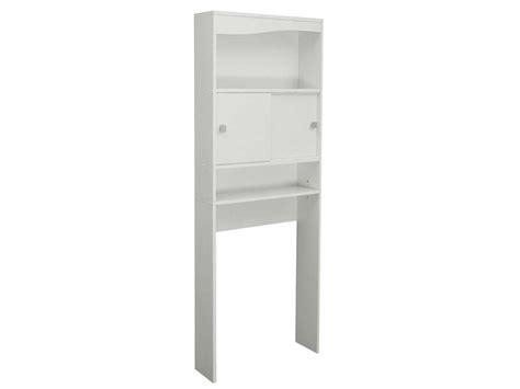 meuble de rangement wc machine 224 laver eos coloris blanc