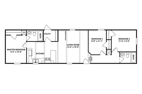 floorplan si 60 46spd16603ah oakwood homes of