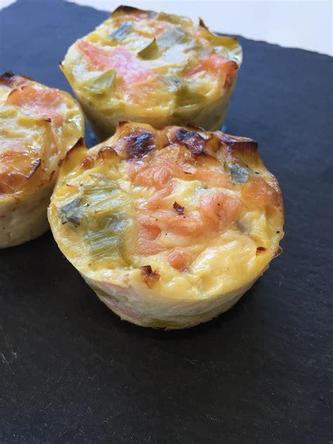 quiche sans p 226 te ou muffins poireaux saumon fum 233 et sa cuisine gourmande et l 233 g 232 re