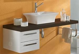 Waschtischplatte Mit Schublade : neu badezimmer waschtisch hochglanz wei schoko waschplatz g ste wc badm bel ebay ~ Markanthonyermac.com Haus und Dekorationen